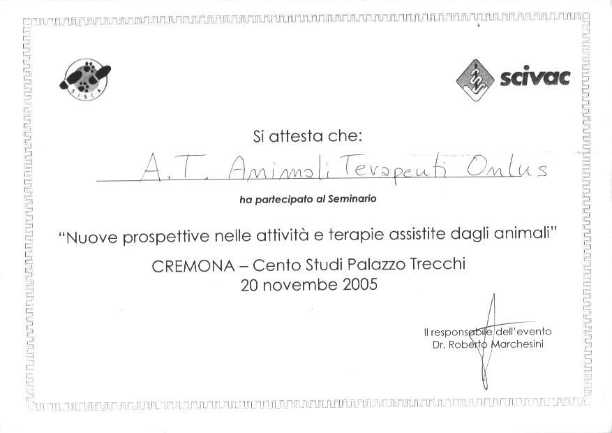 A.T ATTESTATO DI PARTECIPAZIONE SEMINARIO